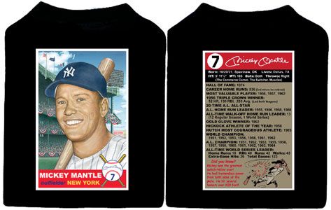 "Mickey Mantle ""Baseball Card"" t-shirt."