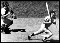 Mickey Mantle blasts home run #54 in 1961 to help pal Whitey Ford win his 25th game of the season.